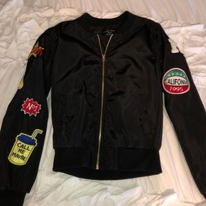 bomber jacket w/ patches